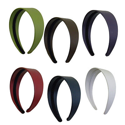 $7.99 • Buy Wide Leather Headbands Colorful Girls 2 Inch Hair Band Accessories