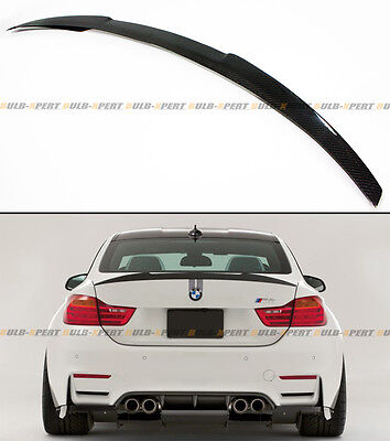 $139.99 • Buy For 2015-2019 Bmw F82 M4 V Performance Style Carbon Fiber Trunk Lid Spoiler Wing