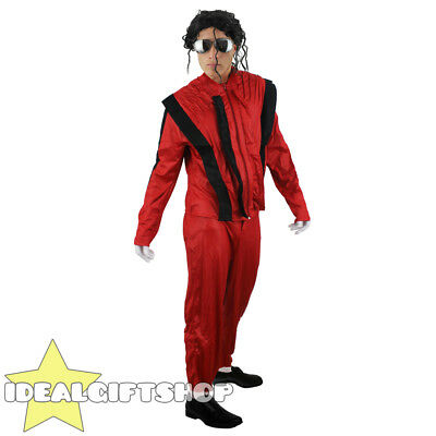 Adults King Of Pop Fancy Dress Costume Superstar Jacko 1980s Thriller Outfit • 14.99£