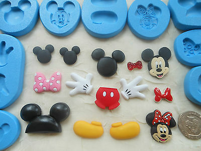 1x Sugarcraft/Fimo MOULD: Fun Mickey & Minnie Mouse Inspired • 3.85£