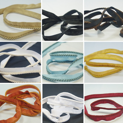 20mm Flanged Upholstery Cord Piping Rope Craft Trim Cushions Trimming Chairs  • 3£