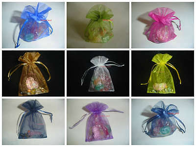 £2.99 • Buy 6 Sizes Large ORGANZA BAGS Wedding Favour Party Pouches Jewellery