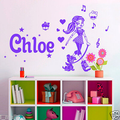 Personalised Name Monster High Kid / Nursery Removable Wall Sticker Vinyl Decal • 14.13£