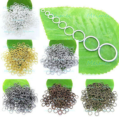 AU3.66 • Buy 100pcs 3mm - 20mm Open Jump Rings Split Findings Jewelry Making Craft Round Oval