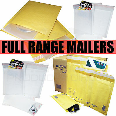 £20.63 • Buy Gold White Bubble Padded Envelopes Mailers Bags All Sizes / Qty's