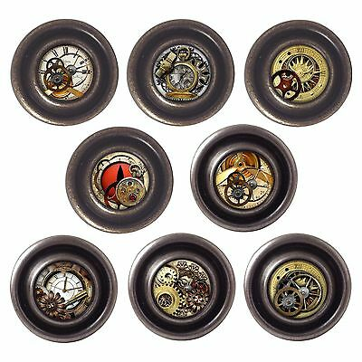 £3.50 • Buy Brass Or Pewter Knobs Steampunk 32mm Cupboard Drawer Door Handles Decorated