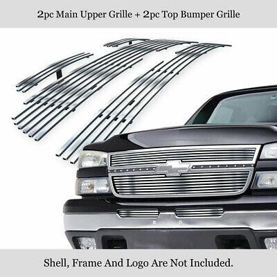 $78.99 • Buy 304 Stainless Billet Grille Combo Fits 06 Chevy Silverado 1500/05-06 2500HD