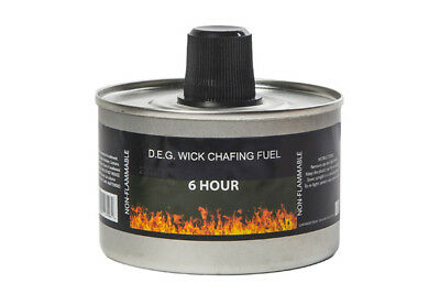 £25.99 • Buy 24x 6 Hour Quality Chafing Dish Fuel Tins With Wick Catering, Caterers Buffet