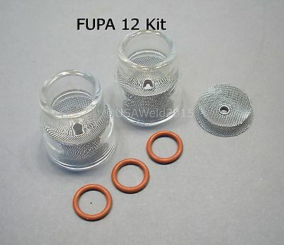 AU72.03 • Buy TIG Welding Weld FUPA #12 Pyrex Cup Kit 9 20 Torches Gas Lens 3/32