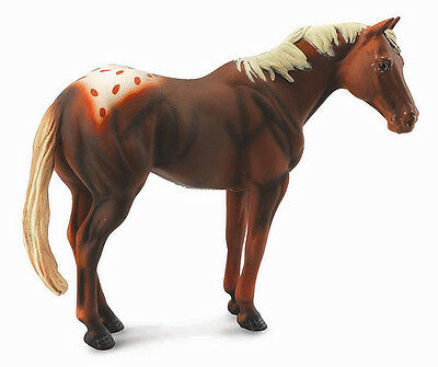 FREE SHIPPING | CollectA 88436 Chestnut Appaloosa Stallion - New In Package • 9.88£