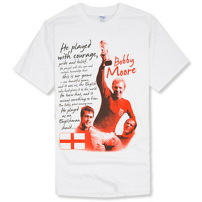 ENGLAND T-SHIRT  OUR BEAUTIFUL GAME  - Bobby Moore, West Ham, St George's Day • 15£