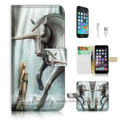 AU12.99 • Buy ( For IPhone 6 6S ) Wallet Case Cover  P1217 Unicorn Girl