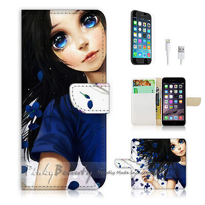 AU12.99 • Buy ( For IPhone 6 / 6S ) Wallet Case Cover P0176 Cute Girl