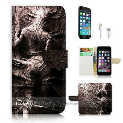 AU12.99 • Buy ( For IPhone 6 / 6S ) Wallet Case Cover P0526 Damask Girl