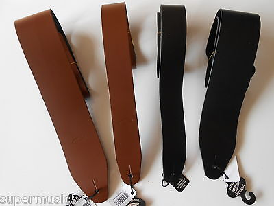 $ CDN27.49 • Buy Uk Made 2  & 3  Wide Real Leather Electric Or Acoustic Adjustable Guitar Strap