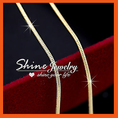 AU8.85 • Buy 18K YELLOW GOLD GF SNAKE CHAIN For Pendant SOLID MENS WOMENS KIDS NECKLACE GIFT