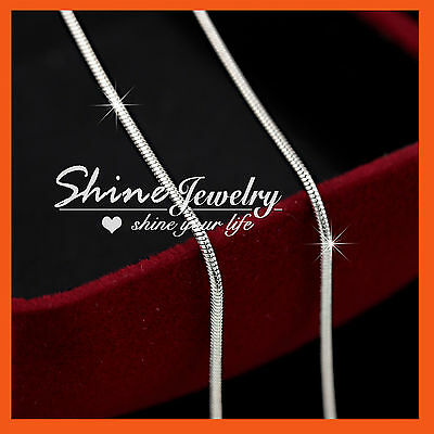 AU7.99 • Buy 9K WHITE GOLD FILLED SILVER SNAKE CHAIN For Pendant SOLID WOMEN MEN KID NECKLACE