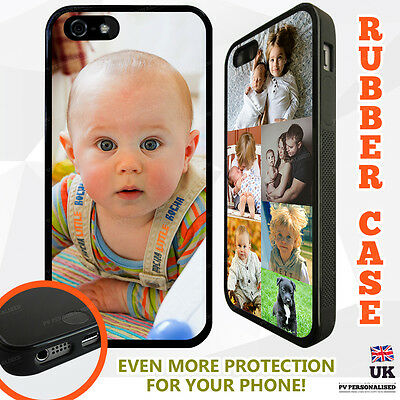 $ CDN12.10 • Buy PERSONALISED TPU RUBBER Photo Collage Phone Case Cover For IPhone For Samsung
