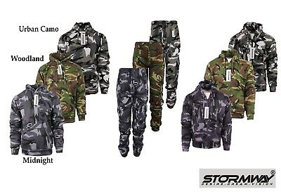£14.95 • Buy Mens Army Camo Camouflage Fleece Tracksuit Hoodie | Zipper | Joggers