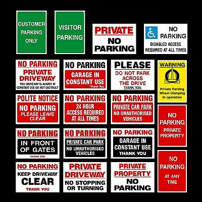 No Parking Plastic Sign, Sticker, Metal - Clamping, Private, Driveway, Disabled • 1.09£