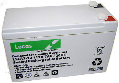 £15.40 • Buy NP7-12 12v 7Ah 20HR Lead Acid Rechargeable Battery NP6-12