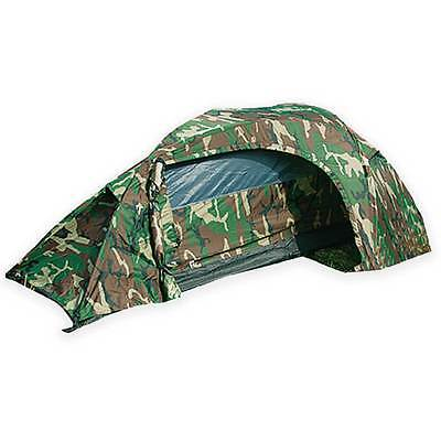 Mil-Tec Recom 1-Man One Person Military Army Camping Tunnel Tent Woodland Camo • 72.90£