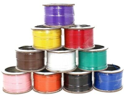 SOLID CORE HOOKUP WIRE 1/0.6mm 22AWG BREADBOARD JUMPERS 11 COLOURS PVC COPPER • 4.39£