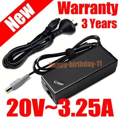 AU22.99 • Buy 20V 65W Laptop AC Adapter Charger For Lenovo ThinkPad X100e X200 X201 Notebook