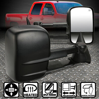 $88.88 • Buy For 99-02 Chevy Silverado Gmc Sierra Gmt800 Powered+heated Side Towing Mirrors