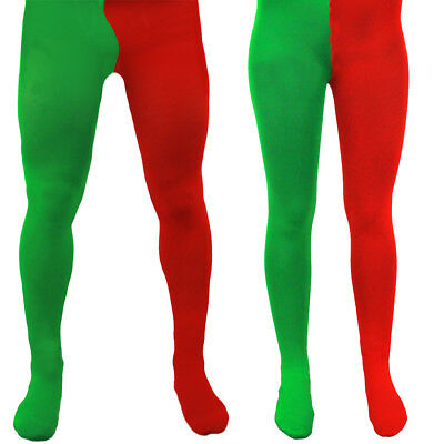 Adult Elf Tights S M L Xl Xxl Xxxl Xxxxl Red Green Christmas Xmas Mens Ladies • 4.99£