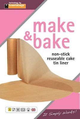 "MAKE & BAKE NON STICK REUSABLE CAKE TIN LINER SIZE 7"" 8"" 9"" 1LB&2LB Loaf Tin Uni • 2.88£"