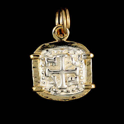 Atocha Sunken Treasure Jewelry - Square Silver Coin Pendant • 57.95$