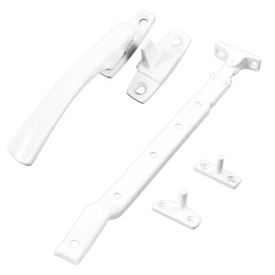 WHITE WINDOW CASEMENT FASTENER/STAY CATCH Straight Lever Arm Lock Pull Handle UK • 2.75£