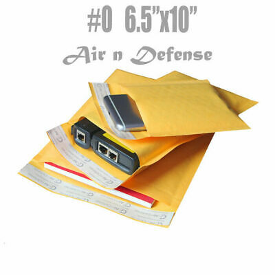 $98.98 • Buy 500 #0 6.5 X 10 Kraft Bubble Padded Envelopes Mailers Shipping Bags AirnDefense
