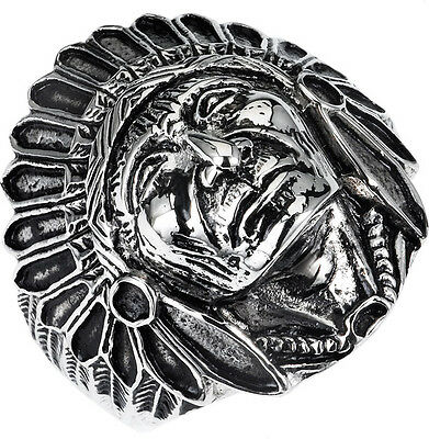 £8.51 • Buy Stainless Steel 316l Indian Head Ring In Sizes 10-14 Ssr48