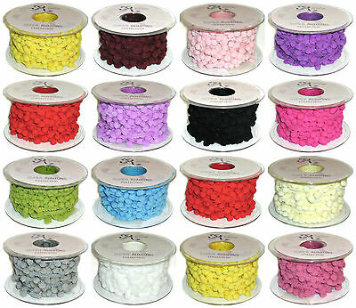 Jumbo 5mm Pom Pom, Braid Fringe Trim, X2 Mtrs, Choose Colour, Art No: Pom Pom • 3.99£