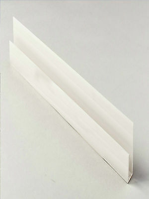 White PVC J Section Starter Trim 2.5m Long For Hollow/Solid Soffit Boards • 4.20£