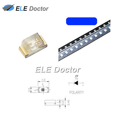 $5.69 • Buy 100PCS SMD SMT 0402 (1005) LED Blue Light Emitting Diodes Super Bright Chip