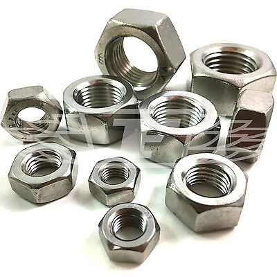 M8 M10 M12 M14 M16 M18 M20 A4 Stainless Fine Pitch Metric Thread Hex Full Nuts • 2.69£