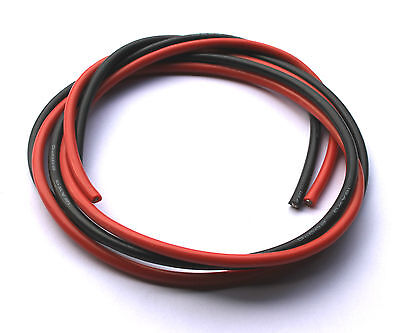 12 AWG Silicone Wire/cable RC ESC Motor LiPo 0.5/1/2/5/10m - Red & Black 12awg • 7.50£