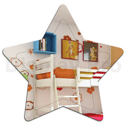 Kids Star Mirror Engraved Acrylic Bedroom Decor For Children • 16.33£