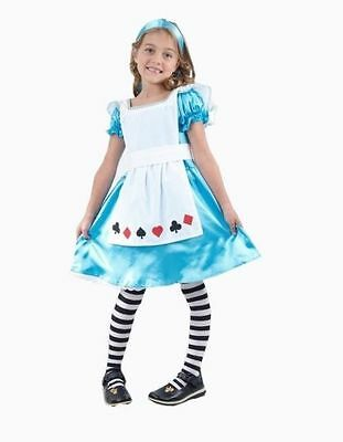 Girls And Toddlers Alice In Wonderland Fancy Costume Fairytale 2 - 12 Years • 5.39£