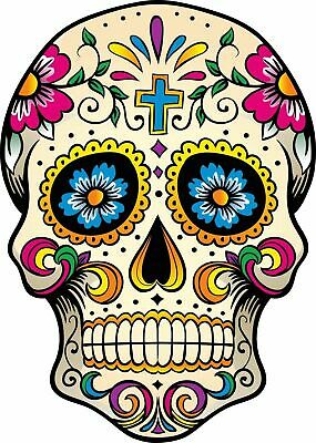 Mexican Sugar Skull Self Adhesive Vinyl Sticker • 4.53£