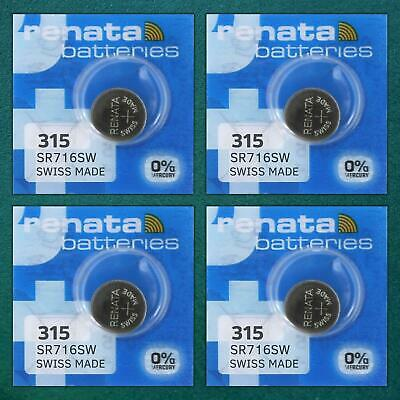£3.15 • Buy 4 Renata Watch Battery All Sizes 377 395 390 CR2032 CR2025 CR2016 1632 Batteries