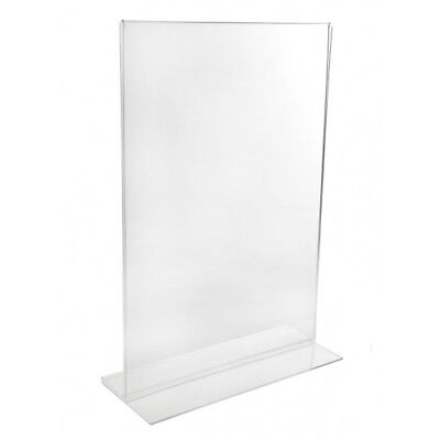 A4 Acrylic Double Sided Menu Holders Perspex Poster Leaflet Sign Display Stand  • 6.85£