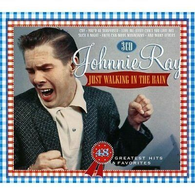 Johnnie Ray - Just Walking In The Rain  - 3 Cd Set - Free Post In The Uk  • 6.99£