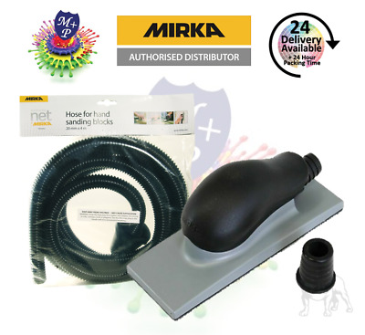 MIRKA ABRANET Hand Dust Extraction Sanding Block(70x125) & Dust Extraction Hose • 22.95£