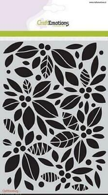Craft Emotions A5 Mask BACKGROUND FLORAL Embossing Stencil Cardmaking 1125 • 3.99£