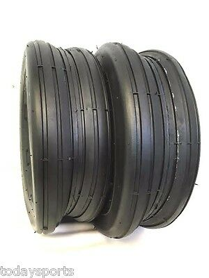 £31.09 • Buy Two 13X5.00-6 13/500-6 Smooth Rib 4 Ply Lawn Mower Garden Tractor Tires