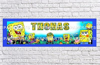 Personalized SpongeBob Squarepants Name Poster With Border Wall Decor Banner  • 12.73£